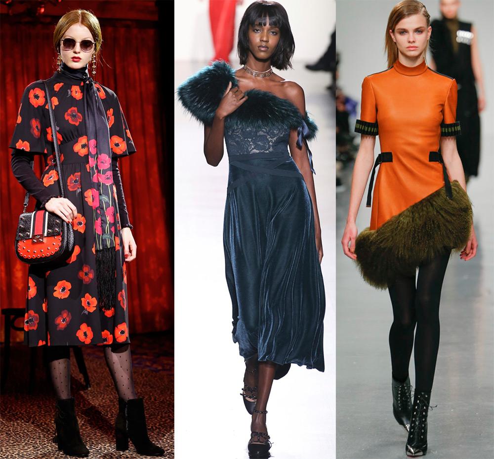 Модные платья осень-зима 17-18