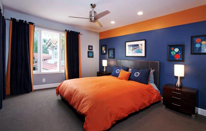 сине-оранжевая комната