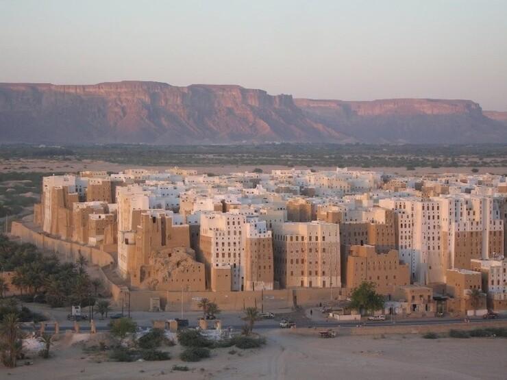 Шибам — реальный древний город глиняных небоскребов архитектура,город,путешествия