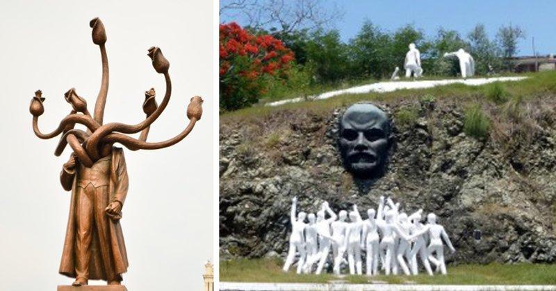 15 самых странных памятников Ленину, которые можно найти по всему миру