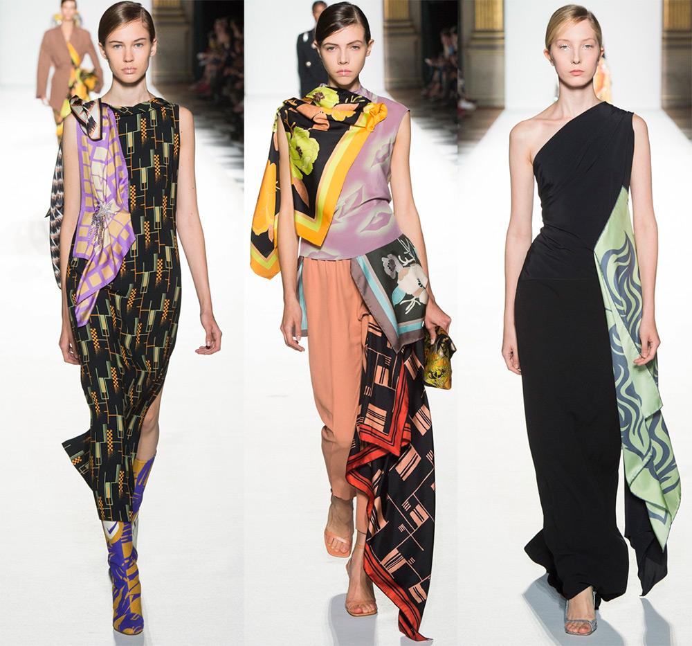 Модные платья из платков 2018