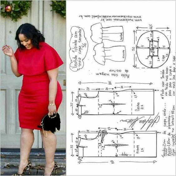 Выкройки одежды больших размеров выкройка