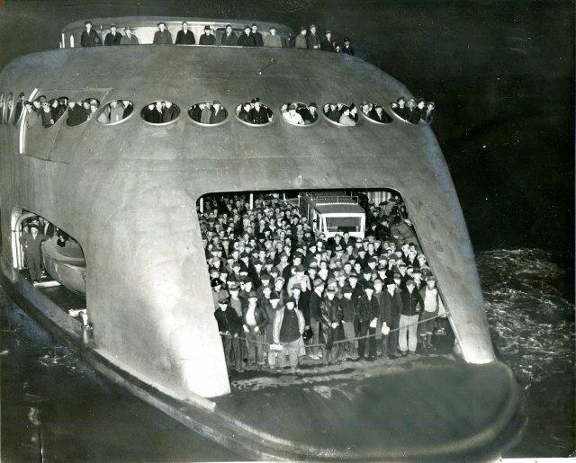 11. Футуристичный паром Kalakala в Сиэтле, 1941 год жизнь, исторические фото, история, прошлое, фото