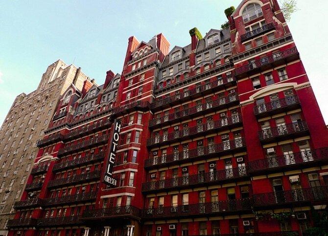 16. Отель «Челси» – Нью-Йорк, Нью-Йорк история, привидения, факты