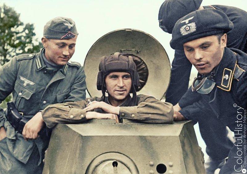 Почему немцы и англичане не придумали нормальный танковый шлем