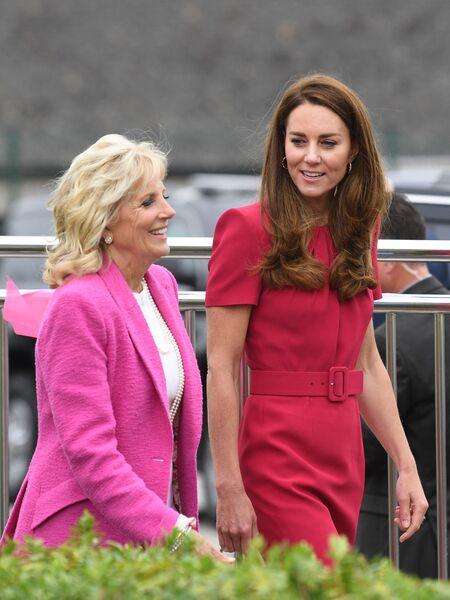 Кейт Миддлтом впервые встретилась с супругой президента США Джилл Байден Монархи,Британские монархи