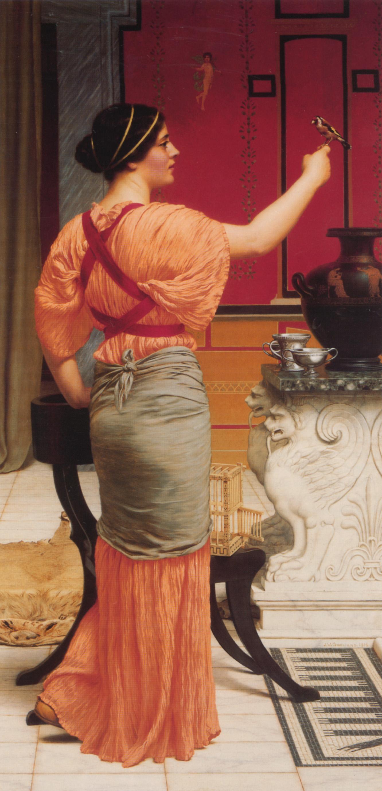 1912_Лесбиянка со щеглом (частная коллекция)