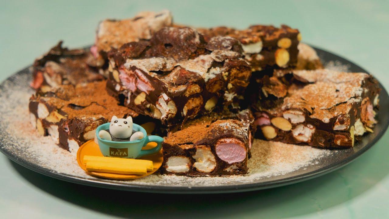 Домашние конфеты. Зефирки и фундук в шоколаде десерты