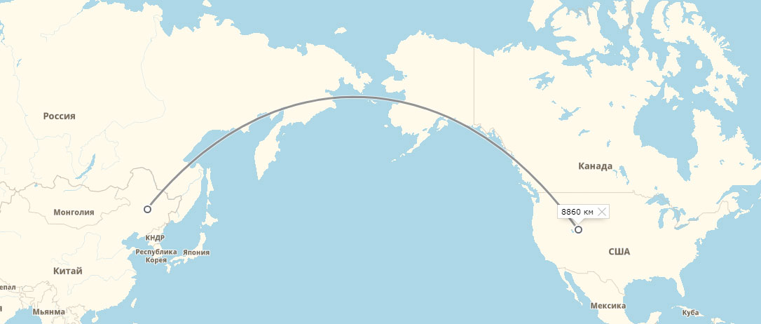 Ракеты над Тихим океаном