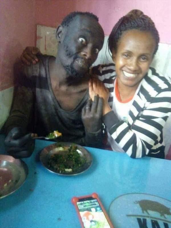 Женщина из Кении нашла своего друга на улице