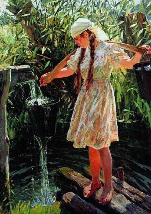 «Полдень». (1961 год). Государственный Русский музей. Автор: А.А.Пластов.