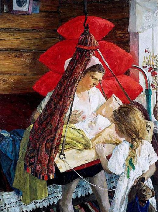 «Мама». (1964 год). Третьяковская галерея. Автор: А.А.Пластов.
