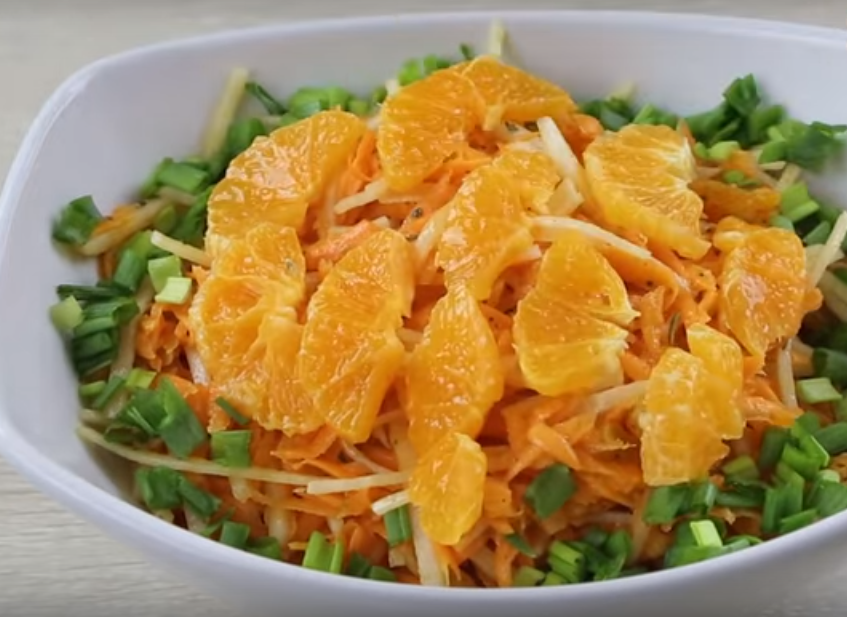 Новый оригинальный салат из моркови