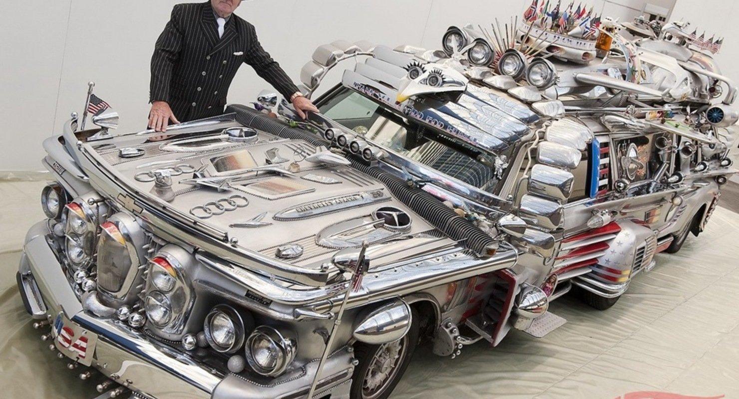 Необычный концепт автомобиля, который имеет 86 фар и 36 зеркал Автомобили