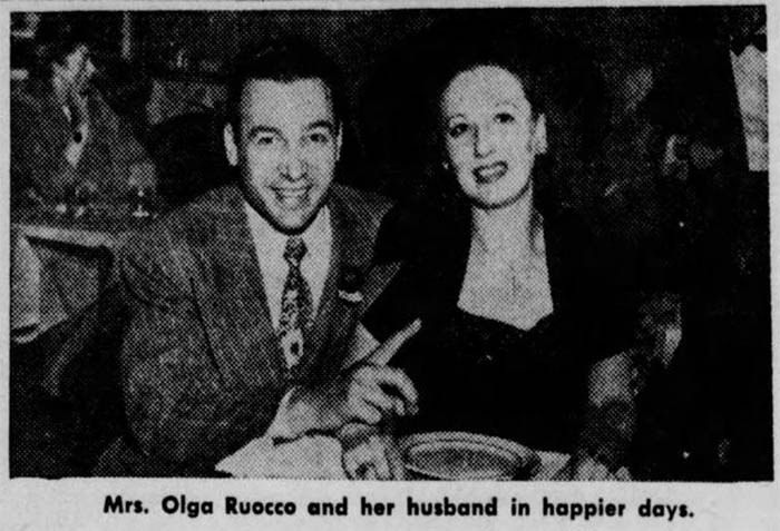 Альфонс Рокко и Ольга. Фото было напечатано в газете в январе 1947 года.