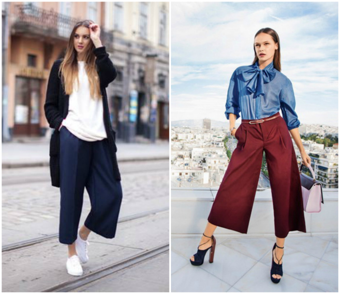 Элегантные и неординарные брюки-кюлоты.