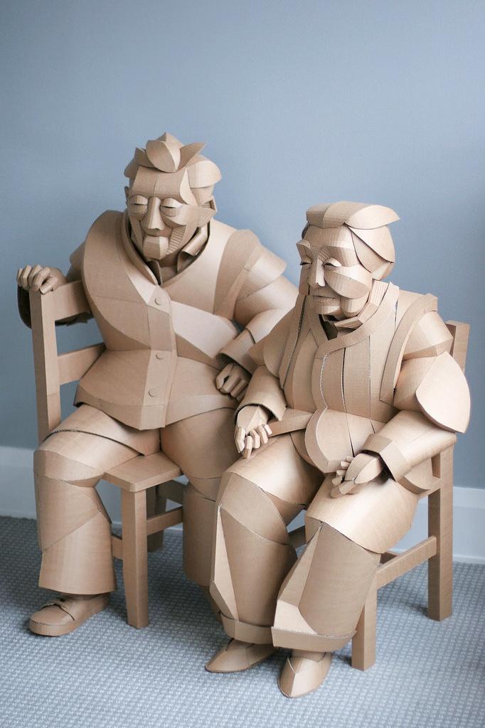 Скульптуры из картона Warren King