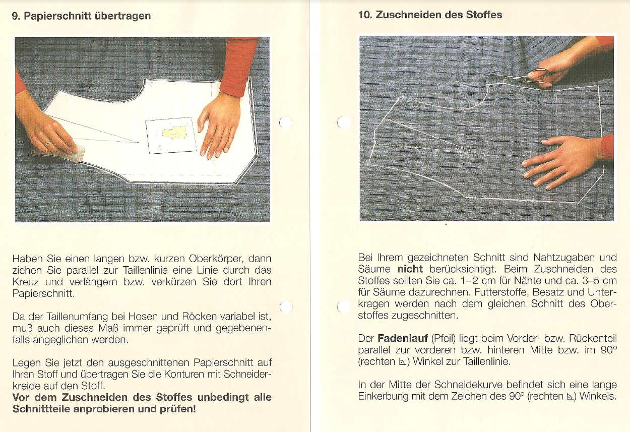 Выкройки одежды из Германии. Может это поможет с определением размера и построением выкроек