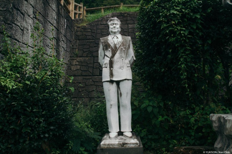 """Основатель Муцуо Фурукава планировал, что этот парк станет """"популярным туристическим местом"""", где """"люди смогут отдохнуть"""". парк, статуя, япония"""