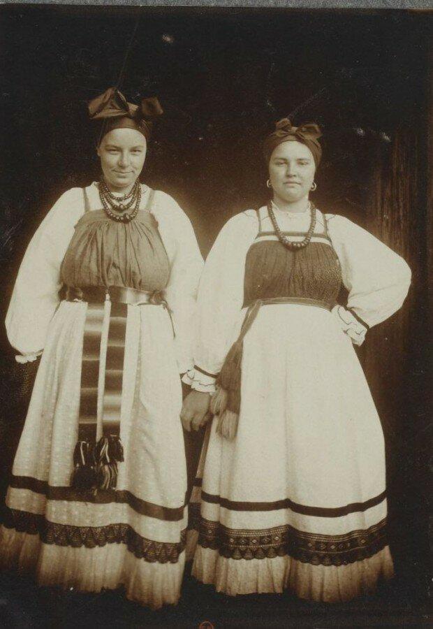 Женщины в воскресных нарядах Николай Шабунин, история, мезенский уезд, россия, русский север, фотографии
