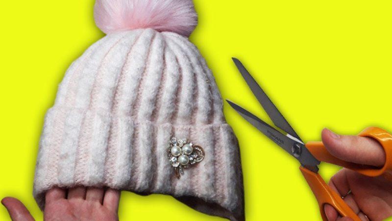 Как ненужную шапку превратить в элегантный носок