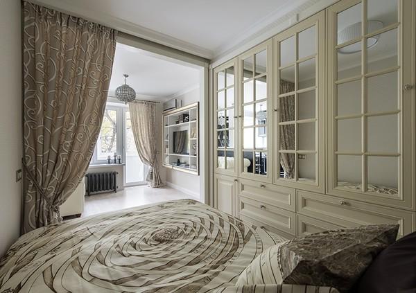 Отличное дизайнерское решение для однокомнатной квартиры площадью 29 кв. метров интерьер, квартира