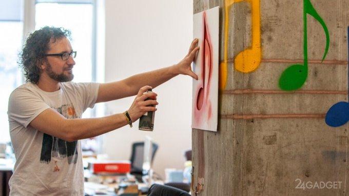 Смарт-краска превращает любую плоскость в сенсорную поверхность будущее,видео,приборы,техника,технологии,электроника