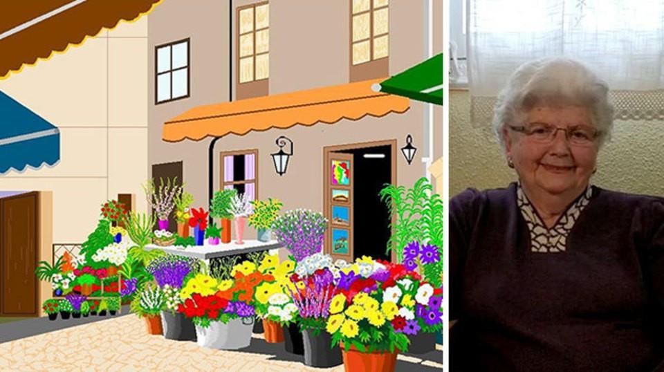 87-летняя бабуля рисует в Pa…
