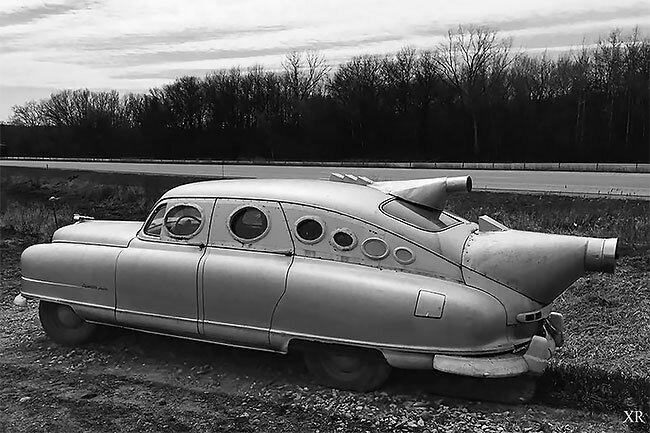 "5. Дизайн ""футуристического авто"" от Боба Райли винтаж, интересно, исторические кадры, исторические фото, история, ретро фото, старые фото, фото"