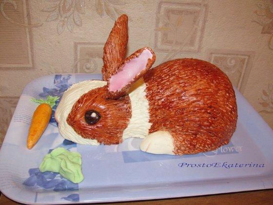 Оформление салата или паштета в виде кролика