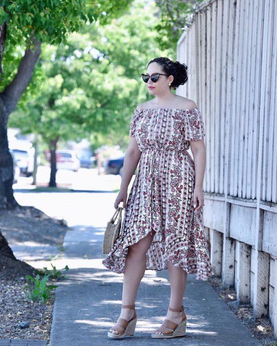 5 платьев бохо, которые делают полную женщину стильной, афигуру— стройной