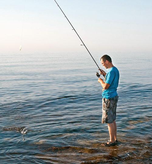 Рыбалка на море с берега