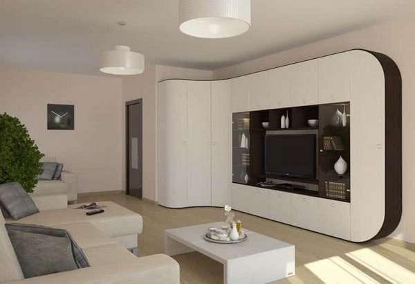 Стенка в гостиную в современном стиле