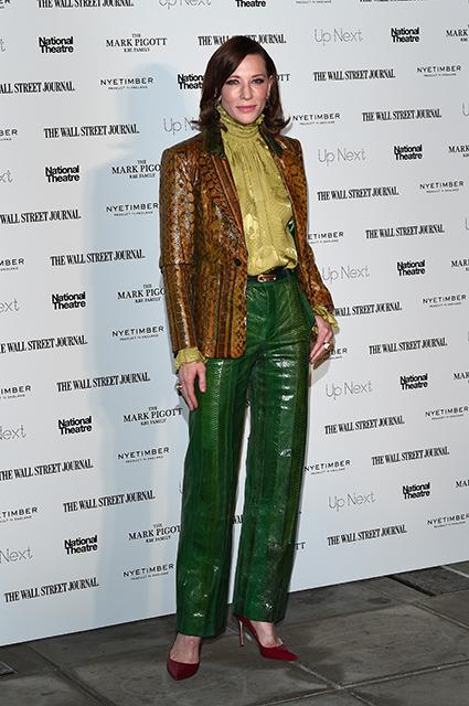 Кейт Бланшетт в ярком костюме со змеиным принтом на гала-вечере в Лондоне Звездный стиль