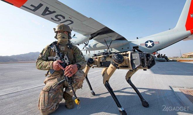 Собакообразный робот Spot идет в армию видео,гаджеты,наука,роботы,техника,технологии,электроника