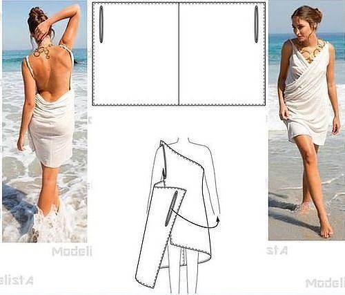 Готовимся к лету. Такую удобную вещь для пляжа  можно сшить своими руками женские хобби,рукоделие,сарафан,своими руками,тУниКа,шитье
