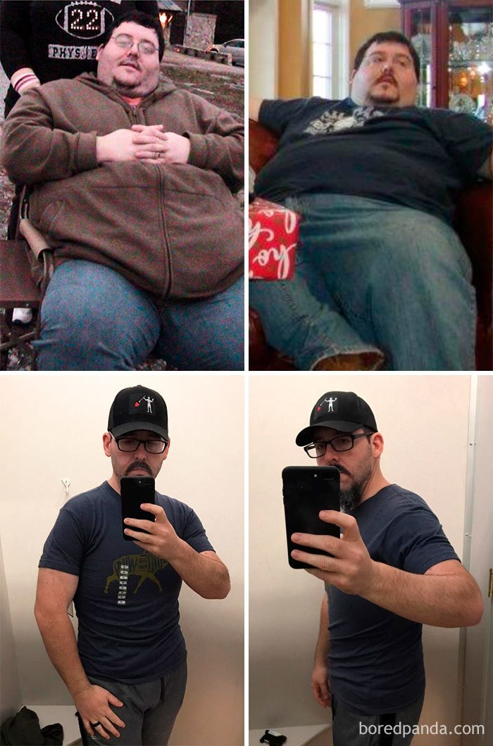 Фото толстяков которые похудели до и после