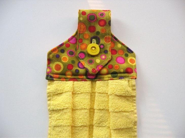 Шьем кухонное полотенце — мастер-класс и идеи декора своими руками