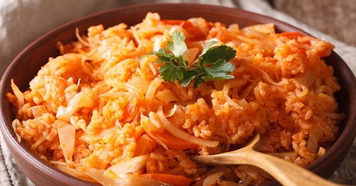 Как приготовить рис с капустой