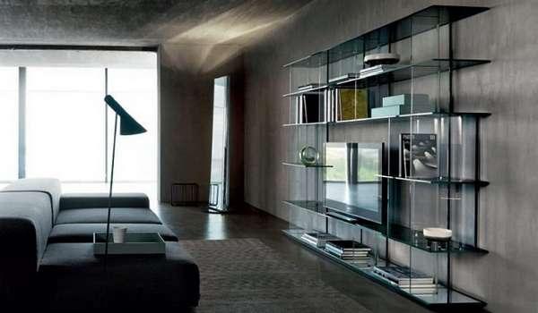 небольшая стенка в гостиную в современном стиле, фото 10