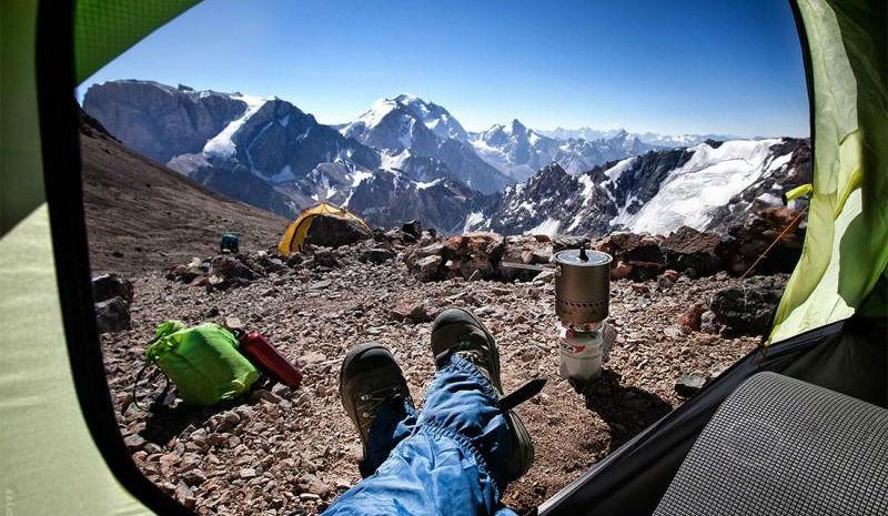 Утренние виды из палатки