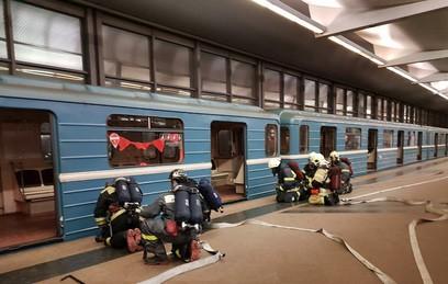 В метро Москвы провели учения по тушению сильного пожара
