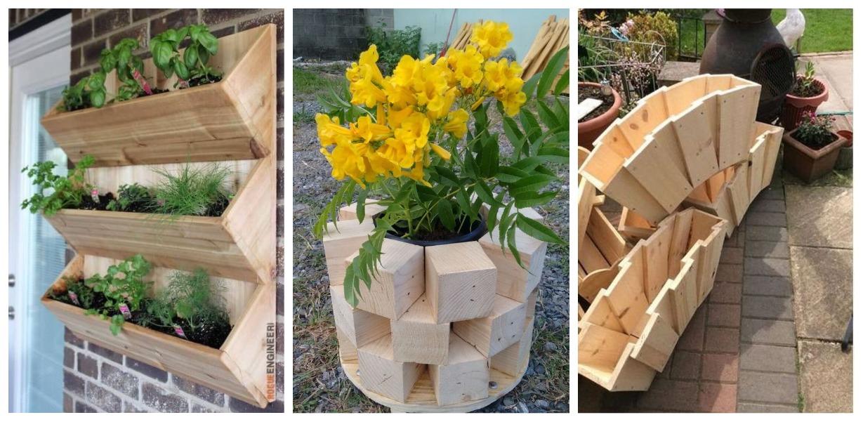 Деревянные вазоны: интересные идеи для воплощения собственноручно!