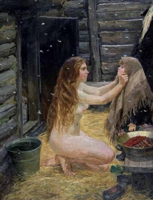 «Весна». (1954 год).<br>Государственная Третьяковская галерея. Автор: А.А.Пластов.