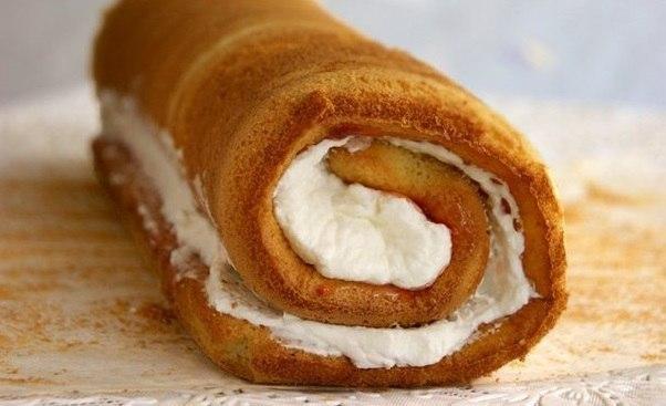 Удачнейший рецепт пышного и мягкого бисквита с начинкой