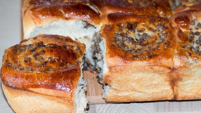 Оригинальный пирог с мясом