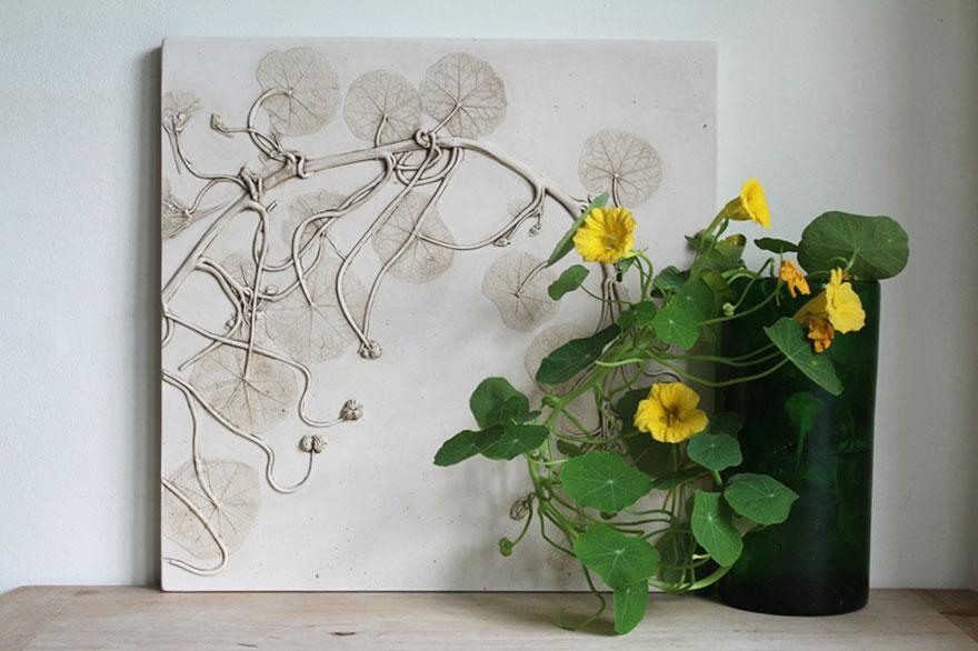 Художница создаёт искусные «окаменелости», используя живые растения и гипс handmake
