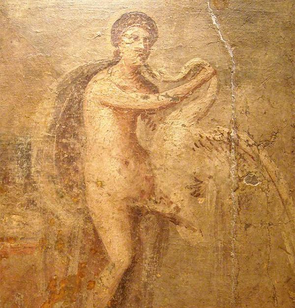Леда илебедь, Помпеи, 50-79 гг н.э.
