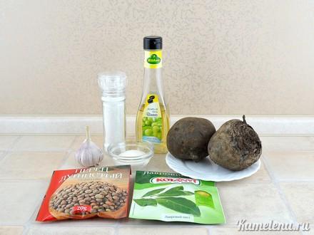 Свекла, маринованная с чесноком еда,пища,рецепты, закуски