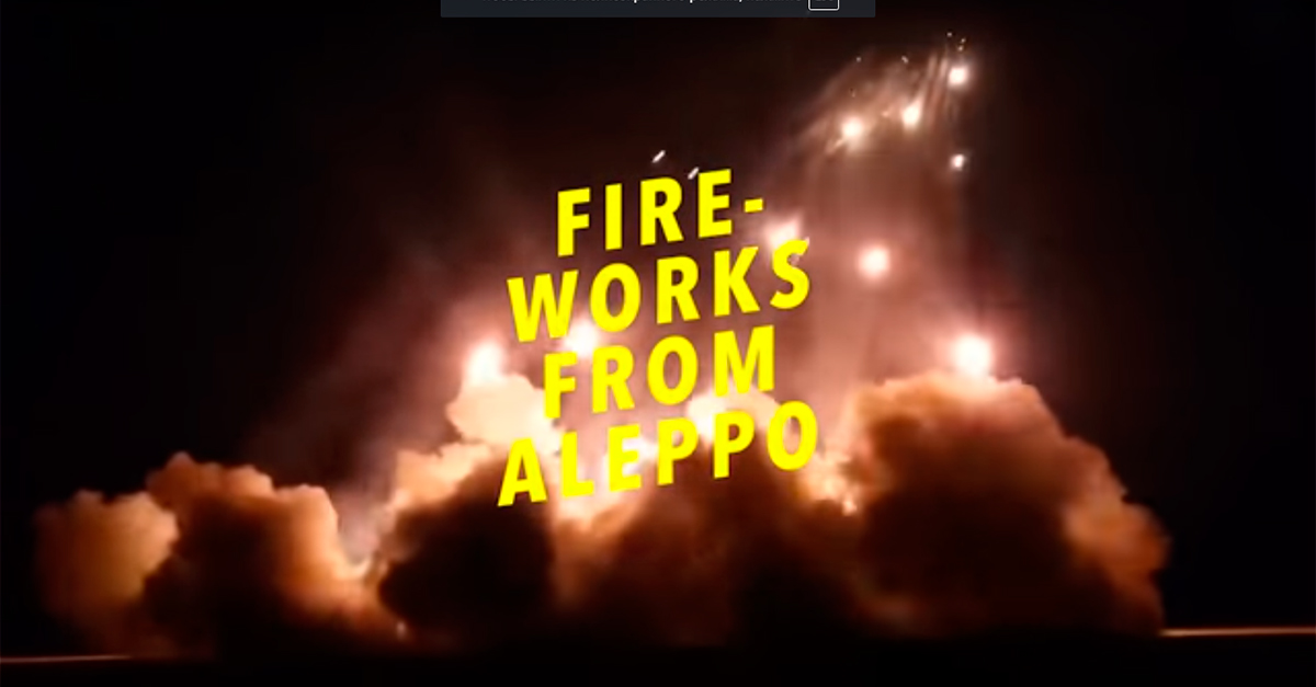 Amnesty International вместо записи новогодних фейерверков включила на датском радио звуки бомбардировок Алеппо